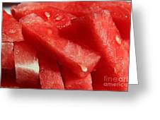 Cool Watermelon Wedges Greeting Card by Barbara Griffin