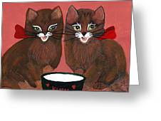 Copper Kitty Greeting Card