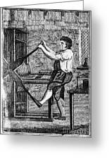 Copper Plate Printer, 1807 Greeting Card