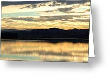 Copper Sky And Reflections Greeting Card