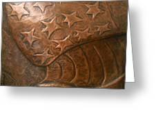 Copper Stars Greeting Card