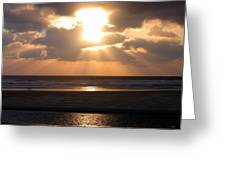 Copper Sunset Stroll Greeting Card