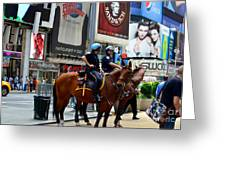 Cops In Manhattan Greeting Card