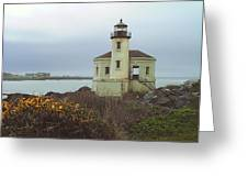 Coquile Lighthouse Greeting Card