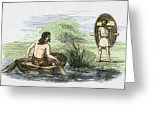 Coracle Boats Of The Ancient Britons Greeting Card