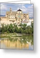Cordoba Cathedral And Guadalquivir River Greeting Card
