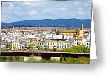 Cordoba Cityscape In Spain Greeting Card