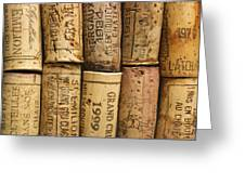 Corks Of Fench Vine Of Bordeaux Greeting Card