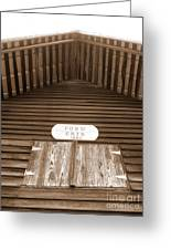 Corn Crib Greeting Card