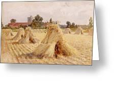 Corn Stooks By Bray Church Greeting Card