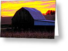 Cornfield Barn Sky Greeting Card