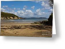 Cornish Seascape Maenporth Greeting Card
