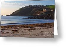 Cornish Seascape Meanporth Greeting Card