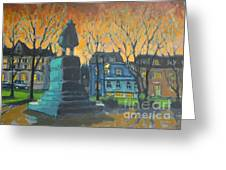 Cornwallace Statue Greeting Card