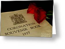 Coronation Book With Roses Greeting Card