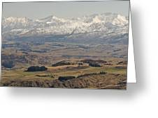 Coronet Peak Greeting Card