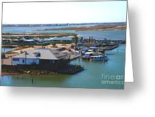 Corpus Christi Bay Towards Mustang Island Texas Greeting Card