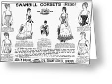 Corset Advertisement, 1892 Greeting Card