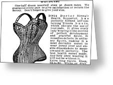 Corset Advertisement, 1895 Greeting Card