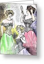 Corset Ladies Greeting Card
