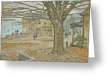 Cos Cob In November Greeting Card by Childe Hassam