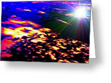 Cosmic Flare Greeting Card