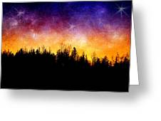 Cosmic Night Greeting Card