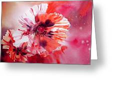 Cosmic Poppies Greeting Card