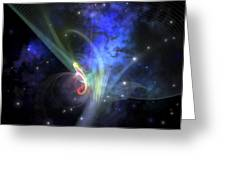 Cosmic Strands Of Gaseous Filament Greeting Card