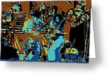 Cosmic Winter Blues 1975 Greeting Card
