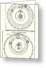 Cosmologies Of Copernicus And Tycho Greeting Card