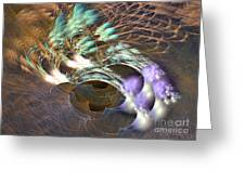Cosmos Under Water - Fractal Art Greeting Card