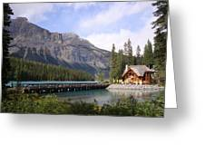 Crossing Emerald Lake Bridge - Yoho Nat. Park, Canada Greeting Card
