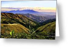 Costa Rica Rolling Hills 1 Greeting Card