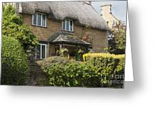 Cotswold Thatched Cottage Greeting Card