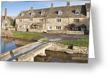 Cotswold Village Of Lower Slaughter Greeting Card
