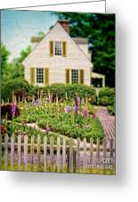 Cottage And Garden Greeting Card