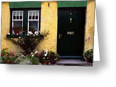 Cottage At Bushmills, Co Antrim, Ireland Greeting Card