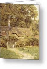 Cottage At Farringford Isle Of Wight Greeting Card