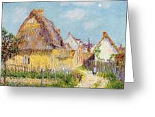 Cottage At Le Vaudreuil Greeting Card by Gustave Loiseau