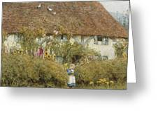 Cottage At West Horsley Surrey Greeting Card