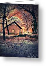 Cottage In The Woods Greeting Card