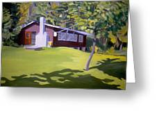 Cottage In Ludow Vermont Greeting Card