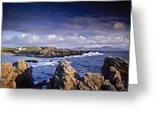 Cottage On Seashore, Ineuran Bay Greeting Card