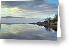 Cottage On The Shore Greeting Card