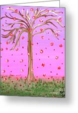 Cotton Candy Sky Wishing Tree Greeting Card