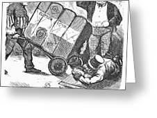 Cotton Loan Cartoon, 1865 Greeting Card
