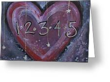 Counting Heart Greeting Card