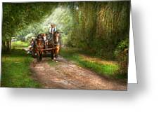 Country - Horse - The Hay Ride  Greeting Card