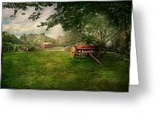Country - The Crops Almost Ready  Greeting Card